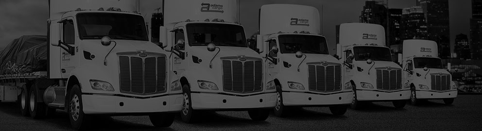 Adams Cargo diversified fleet of trucking equipment